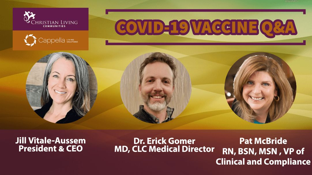 Covid 19 Senior Living Communities vaccine question and answer